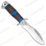 """Нож """"Удар"""". Рукоять комбинированная люкс: карельская береза, орех, фибра. Алюминий"""