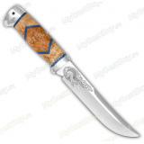 """Нож """"Випер"""". Рукоять комбинированная люкс: карельская береза, оргстекло. Алюминий"""