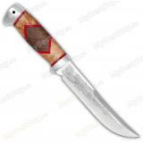 """Нож """"Випер"""". Рукоять комбинированная люкс: карельская береза, орех. Алюминий"""