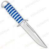 """Нож """"Воин"""". Рукоять оргстекло. Алюминий. Синий"""