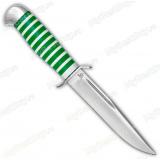 """Нож """"Воин"""". Рукоять оргстекло. Алюминий. Зеленый"""
