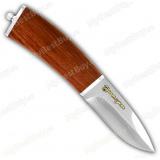 """Нож """"Малек"""". Рукоять бубинго. Гравировка Златоуст"""