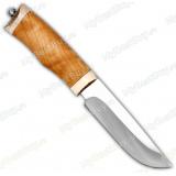 """Нож """"Волчонок"""". Рукоять березовый кап. Рог лося. Без гравировки"""