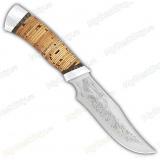 """Нож """"Багира"""". Наборная рукоять береста. Алюминий"""