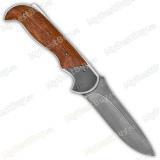 """Нож складной """"Рысь"""". Орех. Клинок дамаск. Рукоять с элементами из дамаска"""