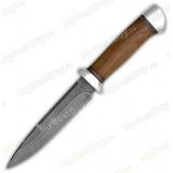 """Нож """"Диверсант"""". Рукоять орех. Алюминий. Дамаск"""