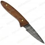 """Нож складной """"Грибник"""". Рукоять орех. Дамаск"""