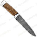 """Нож """"Н1-T"""". Рукоять орех. Алюминий. Дамаск"""
