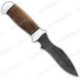 """Нож """"Н21А"""". Рукоять орех. Алюминий. Дамаск"""