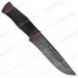"Нож ""Н55"". Рукоять кожа. Дамаск"
