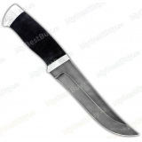 """Нож """"Н5"""". Рукоять резина [микропора]. Алюминий. Дамаск"""