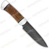 """Нож """"НР3"""". Рукоять орех. Алюминий. Дамаск"""