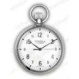 """Часы карманные механические 192АИЖ2.810.082. Хромированный корпус. """"Э"""""""
